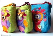 Trojaczki Majowe- torebki z sowami. Zapraszam do odwiedzania bloga ;]