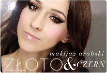 makijaż złoto-czarny
