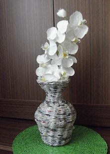 wazon z papierowej wikliny ...