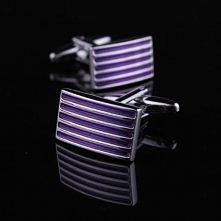 Purple stripe cufflinks French shirt cufflinks 0967