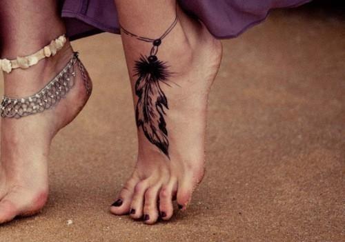 Piórko Na Stopie 3 Na Tatuaże Zszywkapl