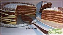 Naleśnikowy tort z kaszą manną