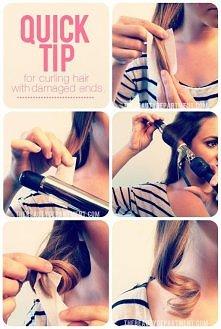 jak zakręcić włosy lokówką nie niszcząc ich..