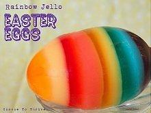 Galaretkowe tęczowe jajka