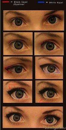 śliczne oczka <3 kreska