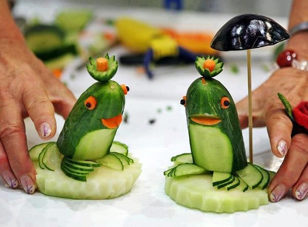 pomysłowe żabki ogórkowe