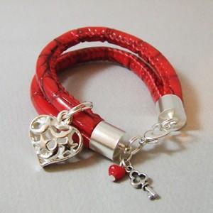 Walentynkowa bransoletka- Kolorowa