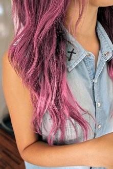 Jeans + róż włosów