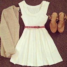 sweterek + sukienka + buty