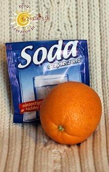 Maska z sody i pomarańczy