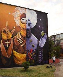 Street Art by INTI - In Santiago, Chile