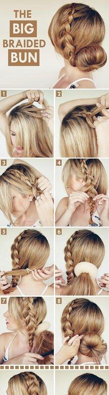 śliczna i łatwa fryzura :D