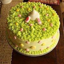 dekoracja tortu wielkanocnego