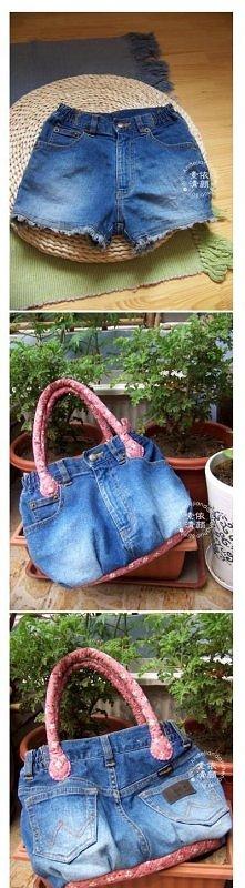torebka z jeansów <3