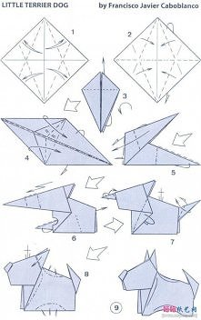 how to, how to fold, origami instructions, paper folding, step by step, tutorial, origami little terrier dog
