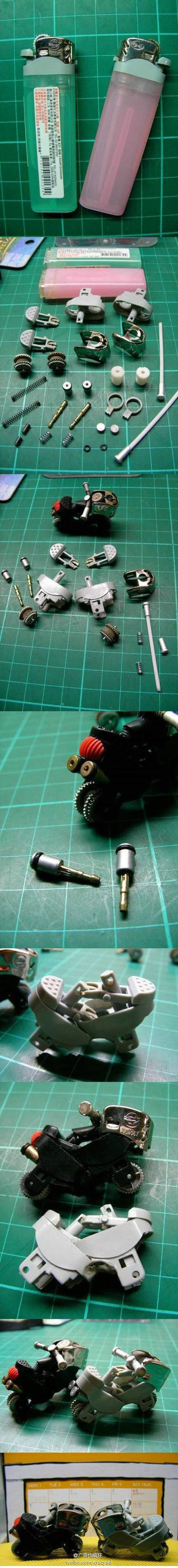 diy, diy projects, diy craft, handmade, diy cool lighter motorcycle