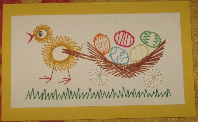 Kartka Wielkanocna Haft Matematyczny Na Moje Prace