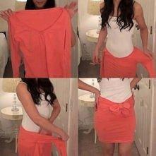 spódniczka zamiast bluzki