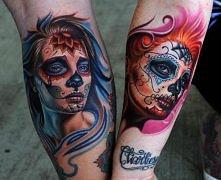 maxican sugar skull tattoo