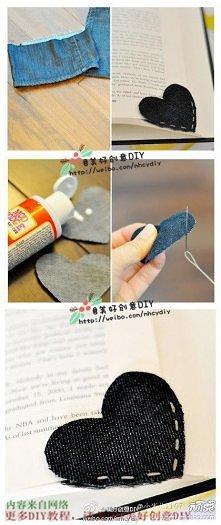 diy, diy projects, diy craft, handmade, diy simple cloth heart bookmark