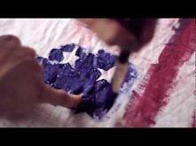 DIY American flag tank-top, Balmain inspired
