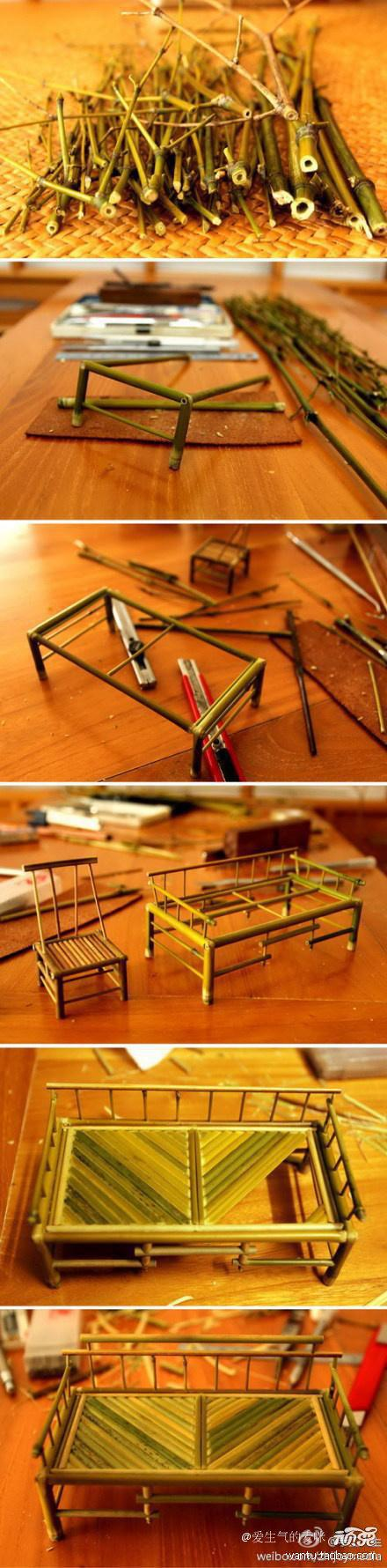 diy, diy projects, diy craft, handmade, diy mini bamboo furnitures