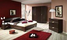 Sypialnia, ciepła kolorysty...