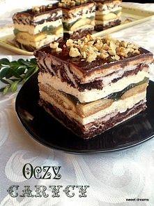 oczy carycy Składniki na ciasto jasne: - 6 białek - 1,5 szklanki cukru - ...