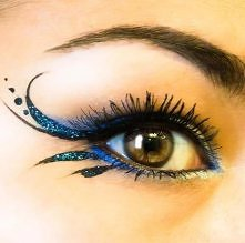 Cool bllue winged liner