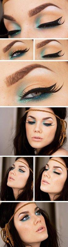 fenomenalny make-up !!   zapraszam do tablicy z biżuterią ;)