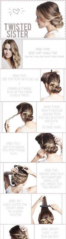 diy, diy projects, diy craft, handmade, diy twisted updo hairstyle