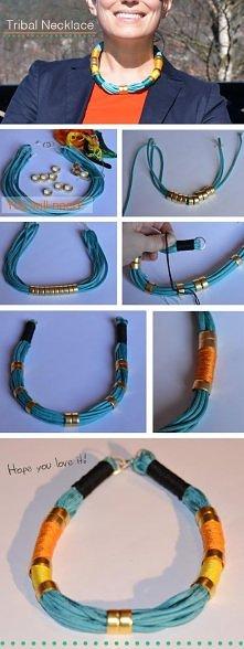 diy, diy projects, diy craft, handmade, diy tribal necklace