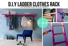 Drabina w garderobie:)