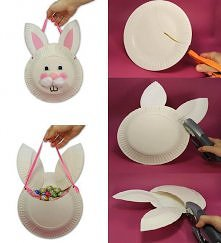 diy, diy projects, diy craft, handmade, diy paper plates bunny bag