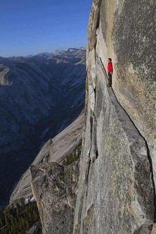 The 'Thank God Ledge' Yosemite National Park, California, USA. Phot...