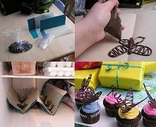 Decorate your muffins with amazing chocolate butterflies