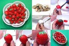 diy, diy projects, diy craft, handmade, diy decorated rock strawberry