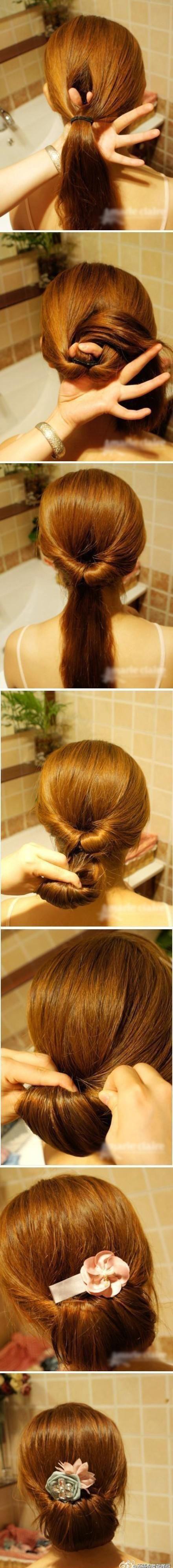 Причёска на волосы по плечи своими руками