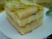 Składniki na ciasto:  - 250 g sera białego  - 2 jaja  - 50 g cukru  - 3 łyżki...