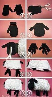 Owieczka z rękawiczek