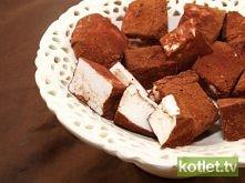 Lekkie pianki z kakaem  Składniki 1 białko 4 łyżki cukru 1,5 łyżeczki żelatyn...