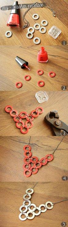 diy, diy projects, diy craft, handmade, diy washer necklace