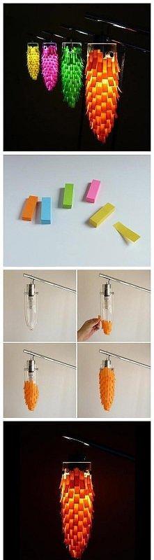 diy, diy projects, diy craft, handmade, diy sticky notes lampshade