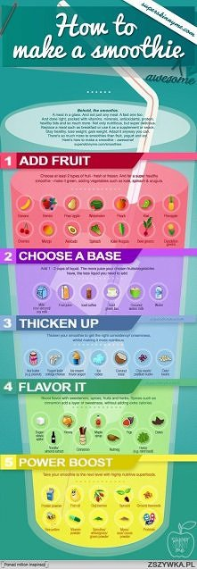 how to make a smoothie (: