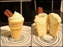 babeczki upieczone w wafelkach do lodów