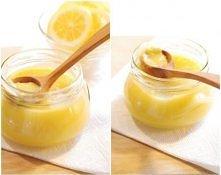 Krem cytrynowy (lemon curd) ok. 2 szklanki:  3 cytryny (skórka i sok) 3 jajka 100 g cukru 100 g masła (bardzo zimnego)  Cytryny sparzyć i wyszorować szczoteczką, osuszyć. Zetrze...