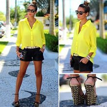 trendy neon yellow