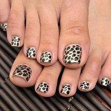 leopardowe paznokcie. HOT!
