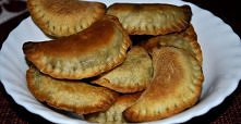 pierogi z kapustą i pieczarkami z piekarnika