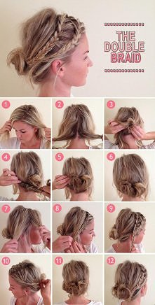 diy, diy projects, diy craft, handmade, diy double braid hairstyle